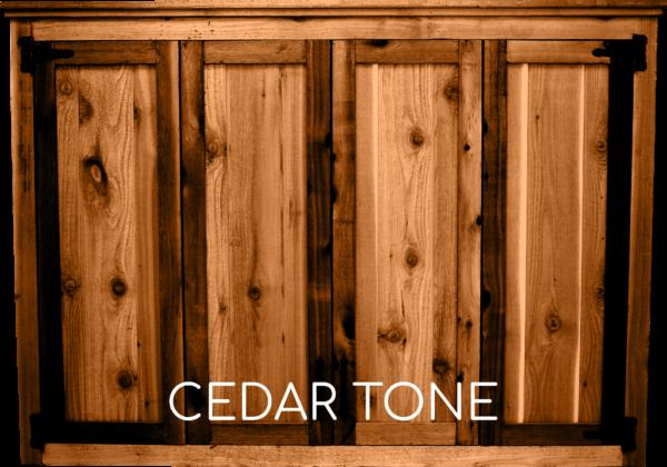 Cedar Tone Tv Cabinet