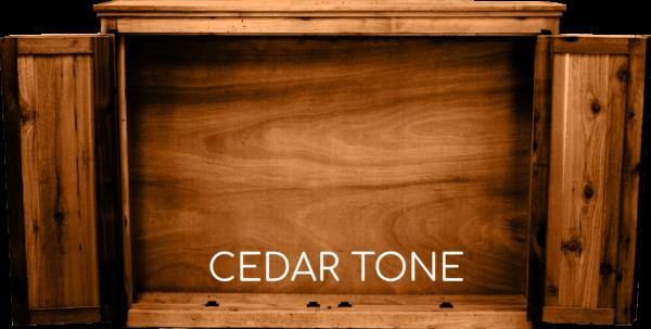 Cedar Tone Tv Cabinet Open